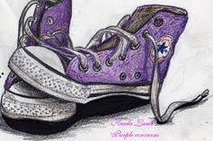 converse - Drawing, purple