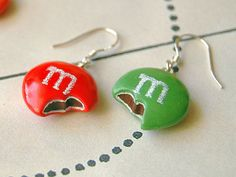 Red Green MMs Earrin