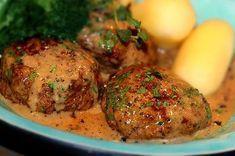 Köttfärsbiffar i rödvinssås | Kryddburken