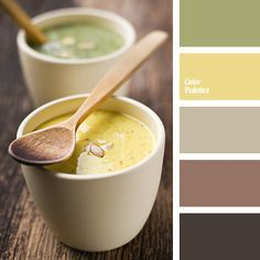 beige, color of mustard, color palette, color solution, dark brown, gray-brown, gray-green, light green, olive-green, selection of colors, shades of brown, warm brown, yellow mustard.