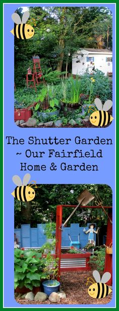 Build a Shutter Garden!   http://ourfairfieldhomeandgarden.com/salvaged-the-32-shutter-challenge-repurposing-shutters-in-the-garden/