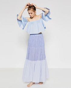 Image 1 of OFF-THE-SHOULDER TOP from Zara