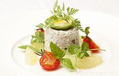 Crab Salad Recipe - Great British Chefs Fish Recipes, Gourmet Recipes, Salad Recipes, Seafood Recipes, Crab Salad, Avocado Salad, Seafood Appetizers, Appetizer Recipes, Avocado Cream