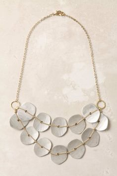 Anthropologie  - Gainsayer necklace (14k gold plated brass, worn gold plated zinc) gold + silver