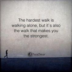 The hardest walk.