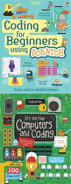 Terrific Coding Books to Introduce Programming to Kids Does your kid want to create their own computer games? These fun guidebooks teach children the basics of coding, programming, and writing software. Computer Coding, Computer Class, Computer Programming, Gaming Computer, Computer Science, Kids Computer Games, Computer Books, Computer Lessons, Programming For Kids