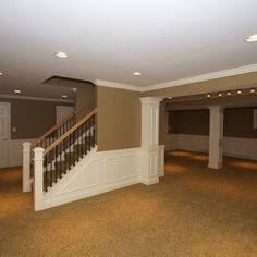 Basement Photos Open Staircase Design Ideas, Pictures, Remodel, and Decor