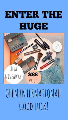 HUGE ULTA MAKEUP GIVEAWAY! OPEN INTERNATIONAL! ENTER NOW! $88 value #sweepstakes #contest