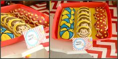 Curious George party cookies