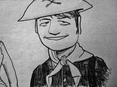 Caricature of Corporal Agarn (Larry Storch) from F Troop