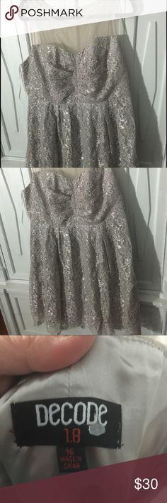 Brand new size 16 silver dress Brand new sparkle silver dress size 16 smoke free home Dresses