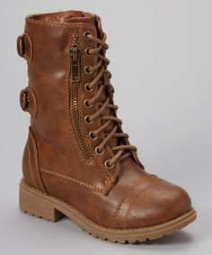 Take a look at this Brown Chase Combat Boot on zulily today!
