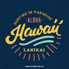 Retro Hawaiian odznaka kipieli