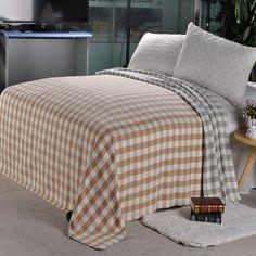Beroyal 100% COTTON Plaid bed skirt Solid Bed Sheet Throw Blanket All  Season New   3c1b7b547