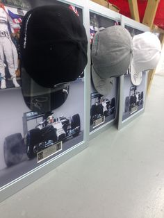 Niki has done a fantastic job mounting these signed Lewis Hamilton caps ready to framed in a premium quality, acrylic dome!