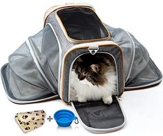 Cat Carrier Dog Carrier Pet Carrier for Cats - Cat Carrie...