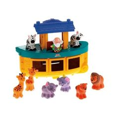 Fisher-Price Little People Noah's Ark: Get the extra animal sets. These little plastic animals are great for kiddos that like to line toys up. They're easy to identify and match up.