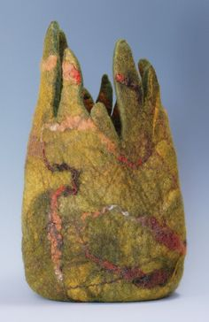 Woodland  Felted Vessel   by Toni Lutman