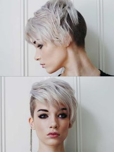 Waves Hairstyle For Black Women women hairstyles popular haircuts round faces.Pixie Hairstyles Growing Out. Short Shaved Hairstyles, Rock Hairstyles, Undercut Hairstyles, Undercut Pixie, Brunette Hairstyles, Everyday Hairstyles, Hairstyles 2016, Short Hair Shaved Sides, Urban Hairstyles