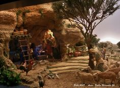 emilio m belenista Portal, Christmas Nativity Scene, Nativity Crafts, Belem, Cribs, Images, Christmas Decorations, Projects To Try, Abstract