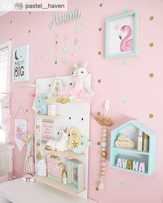 More pretty pastel goodness and cute pegboard styling! pegboard pegboardinspiration is part of Pastel girls room - Pastel Girls Room, Pastel Bedroom, Pink Bedroom For Girls, Big Girl Bedrooms, Little Girl Rooms, Pastel Room Decor, Baby Bedroom, Room Ideas Bedroom, Baby Room Decor