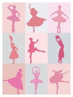 pink minimalists dancers by jibeyatelier