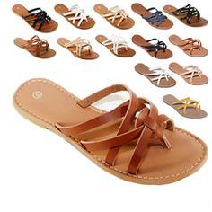 e129869e0722 New Women Gladiator Sandals Shoes Thong Flops Flip Flat Size Slipper Shoes