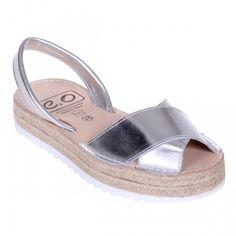 Sandale AVARCA din Piele Argintie cu talpa dubla Espadrilles, Shoes, Fashion, Espadrilles Outfit, Moda, Zapatos, Shoes Outlet, Fasion, Shoe