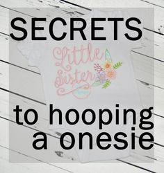 VIDEO: How to hoop a onesie – Creative Appliques VIDEO: How to hoop a onesie – Creative Appliques,machine embroidery One of the greatest blessings in life is the miracle of a newborn baby. Baby Embroidery, Machine Embroidery Projects, Simple Embroidery, Machine Embroidery Applique, Free Machine Embroidery Designs, Embroidery Stitches, Embroidery Ideas, Ribbon Embroidery, Brother Embroidery Machine