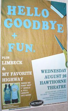 HelloGoodbye  Poster Concert $9.84