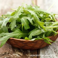 Arugula is highly alkalizing ranking high in sulfur and vitamin A. The perfect combination to help protect skin from sun damage. Vitamin A also helps to inhibit acne. Eat your greens!