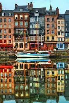 Le port de monfleur. Normandia. Francia