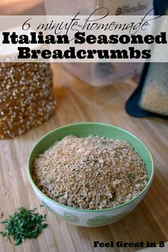 You won't believe how simple it is to make homemade italian seasoned breadcrumbs! Quick, easy, and healthy! Feel Great in 8 - Healthy Real Food Recipes