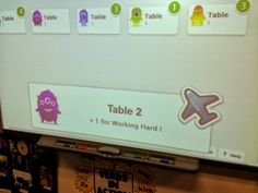 Using Class Dojo for small group points rather than individual - interesting idea