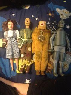 Vintage Wizard Of Oz Dolls Lot, Dorthy, Lion, Scarecrow, Tinman 1981