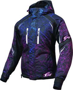 96e02d800c1 FXR Women s Fresh Jacket - Hex Camo Cyan-Fuchsia Snowmobile Clothing