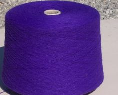 Purple Acrylic Yarn, Purple  Machine Knitting Yarn, Purple Cone Yarn by stephaniesyarn on Etsy