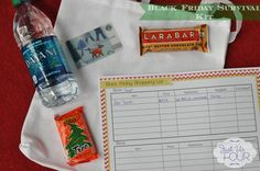 Black Friday Survival Kit with a Printable - Just Us Four
