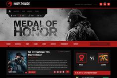 Game Forum Website Design | We Love Free PSD