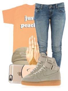 """""""."""" by ray-royals ❤ liked on Polyvore featuring Just Peachy, bleu, Boohoo, Casetify and NIKE"""