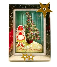 Christmas - Christmas Cards - Easy Christmas Crafts - Kid Friendly recycling project from Keep Calm and Craft On blog - Keep Calm and Craft On