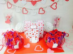 Love is in the Air Valentine's Day party! See more party planning ideas at CatchMyParty.com!
