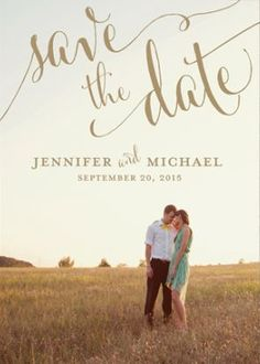 A personalized save-the-date card with your photo on it   http://Brides.com