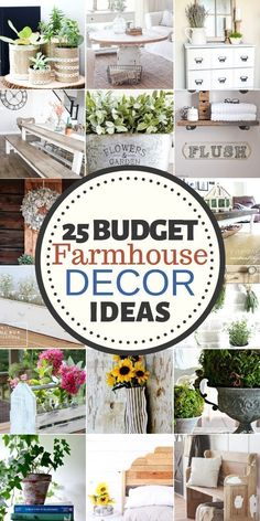 To Do Rustic Home Decor on a Budget: 25 DIY Ideas Completely diggin' these cheap farmhouse DIY decor ideas! How To Do Rustic Home Decor on a Budget: 25 DIY Ideas Completely diggin' these cheap farmhouse DIY decor ideas! Diy Home Decor Rustic, Country Farmhouse Decor, Farmhouse Design, Cheap Home Decor, Modern Farmhouse, Farmhouse Style, Farmhouse Ideas, Country Kitchen, Southern Farmhouse