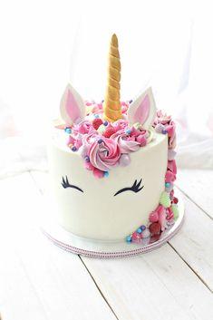 A single party – food – Cake Unicorne Cake, Diy Cake, Cake Smash, Cupcake Cakes, Diy Unicorn Cake, Unicorn Cake Pops, Birthday Cake Girls, Unicorn Birthday Parties, 50th Birthday