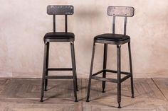 Industrial look bar stools from our restaurant furniture range. A stylish and comfortable tall bar stool with a padded seat. Large quantities available.
