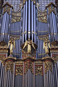 Pipe Organ of Westminster Abby in London, England.  Westminster abby is one if the most important Anglican Churches in the world.