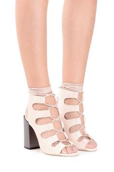 Jeffrey Campbell Shoes ALLOW in Natural Pewter Matte