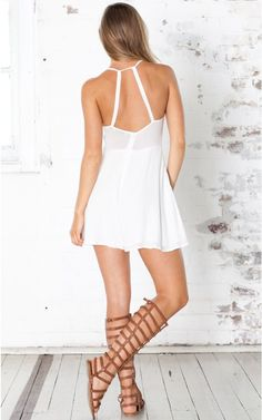 Havana playsuit in white | SHOWPO Fashion Online Shopping