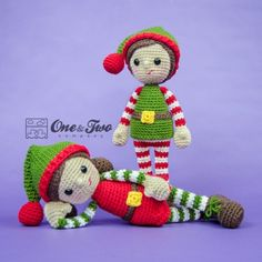 Jingle and Belle Santa's Helper Amigurumi Crochet Pattern by One and Two Company